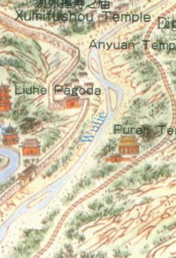 Map Of Imperial Summer Palace In Chengde Beijing - Chengde map