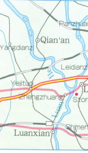 Map of Qinghuangdao City, China