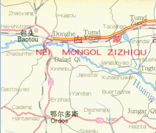 Map of Shanxi Province, China