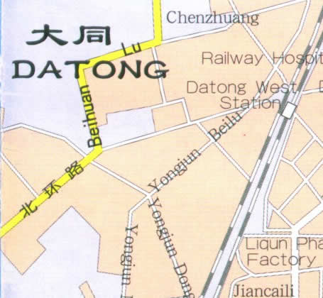 Shanxi China Map.Map Of Ddatong Shanxi Province China