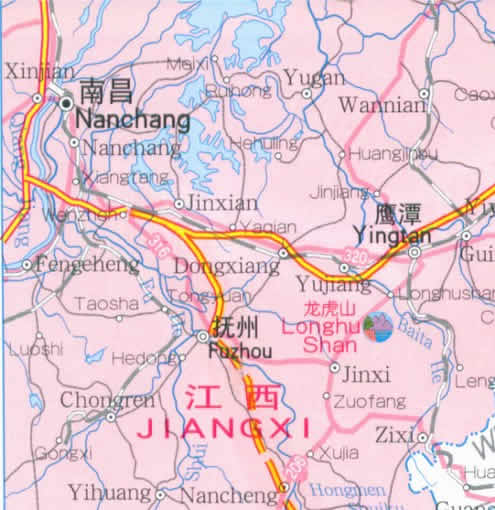 Travel Map of Fujian Province, China