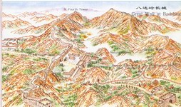 map of The Great Wall at Badaling