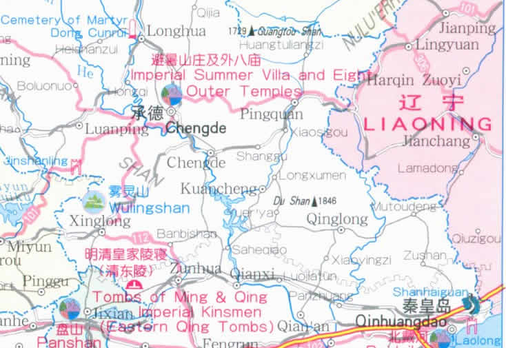 Hebi China  city images : Travel Map of Hebei Province, China