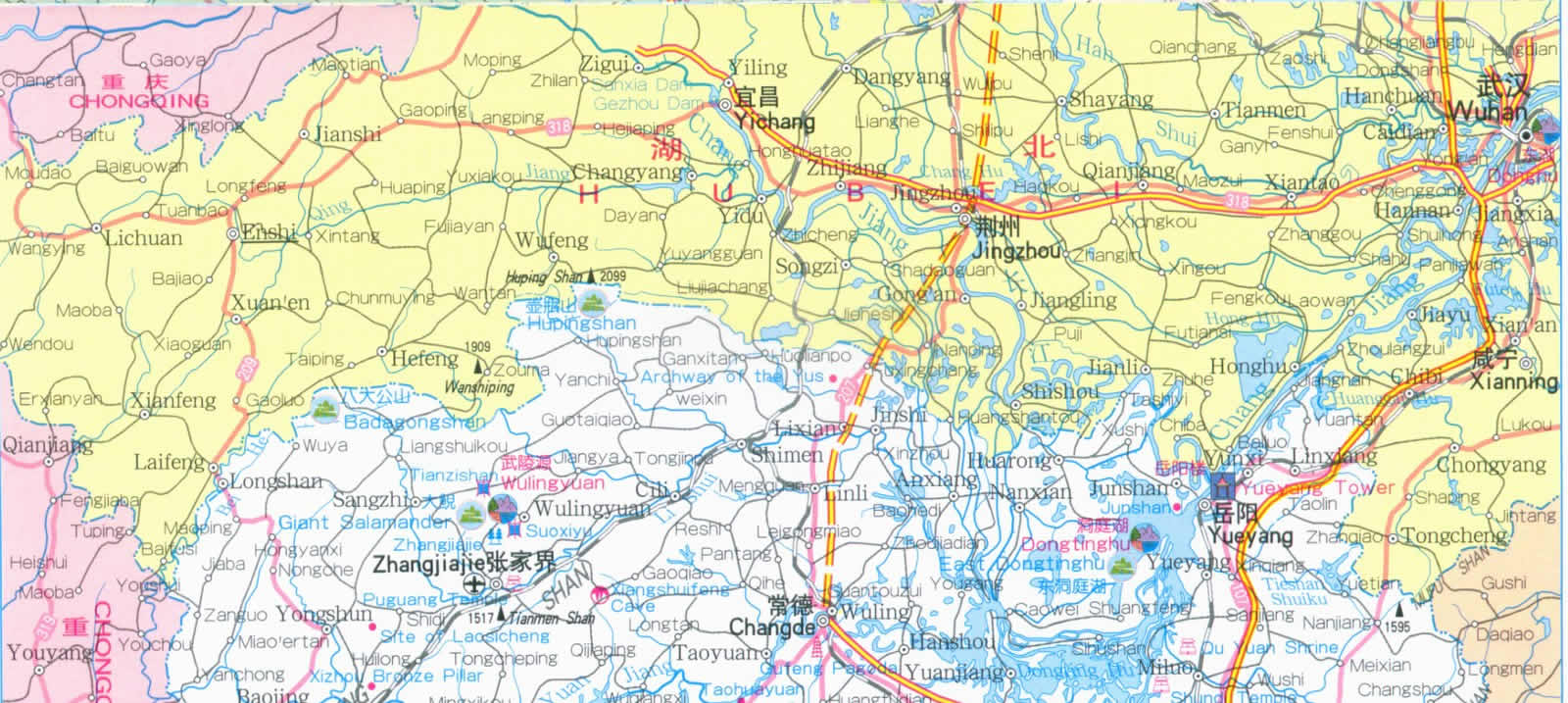 Map of Hunan Province China – Traveling Maps