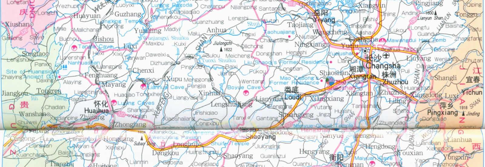Hunan Province China Map.Map Of Hunan Province China