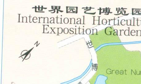 Map of International Horticultural Exposition Garden in Kunming