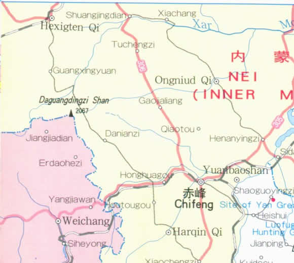 Travel Map of Liaoning Province, China