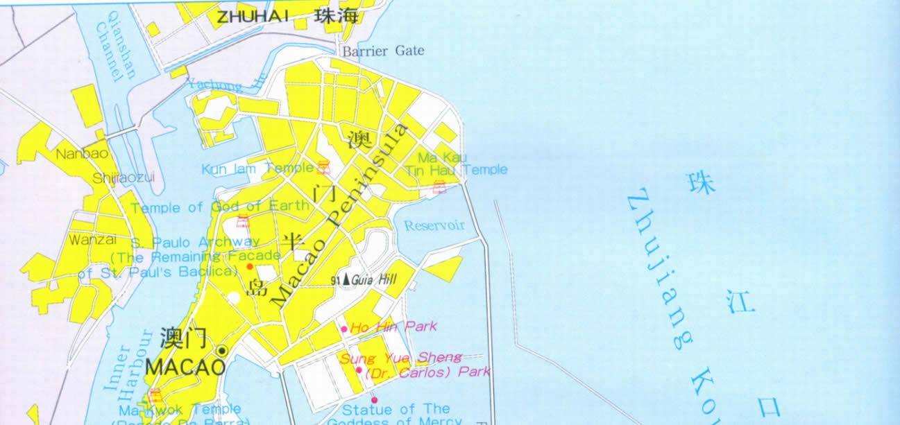 Travel Map of Macao City China