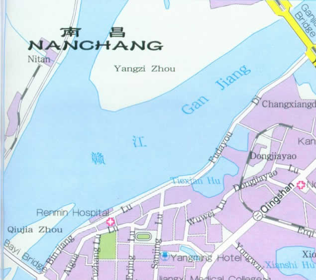 Travel Map of Nanchang, China