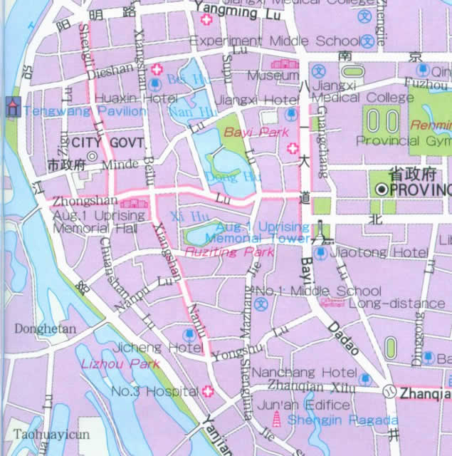 Nanchang China  City new picture : Travel Map of Nanchang, China