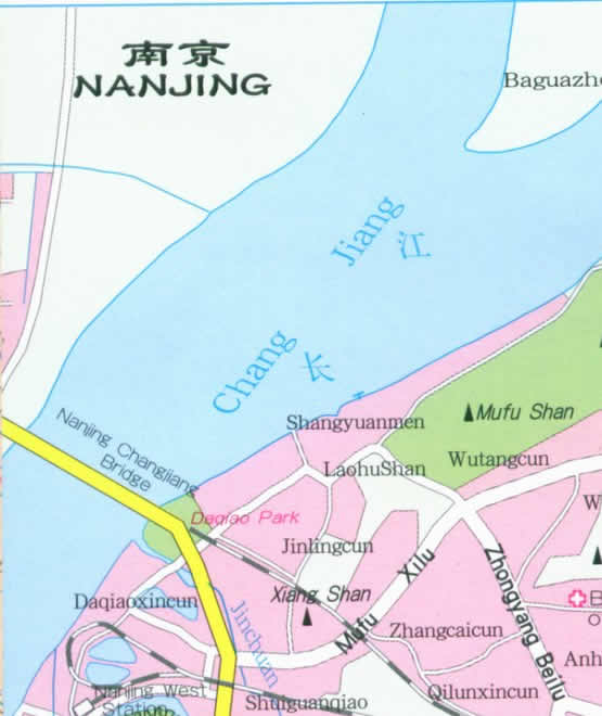 Travel Map of Nanjing City, China