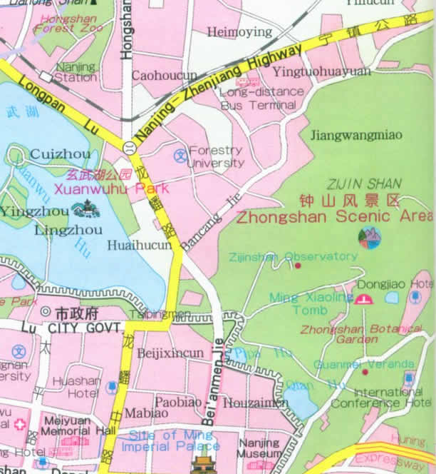 Map Of Nanjing City China - Nanjing map
