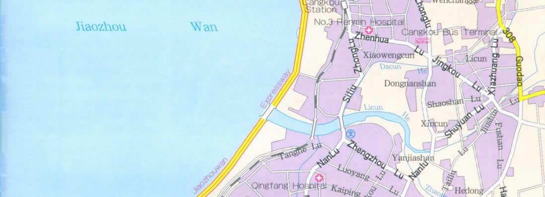 Map Of Qingdao China - Jiaozhou city map
