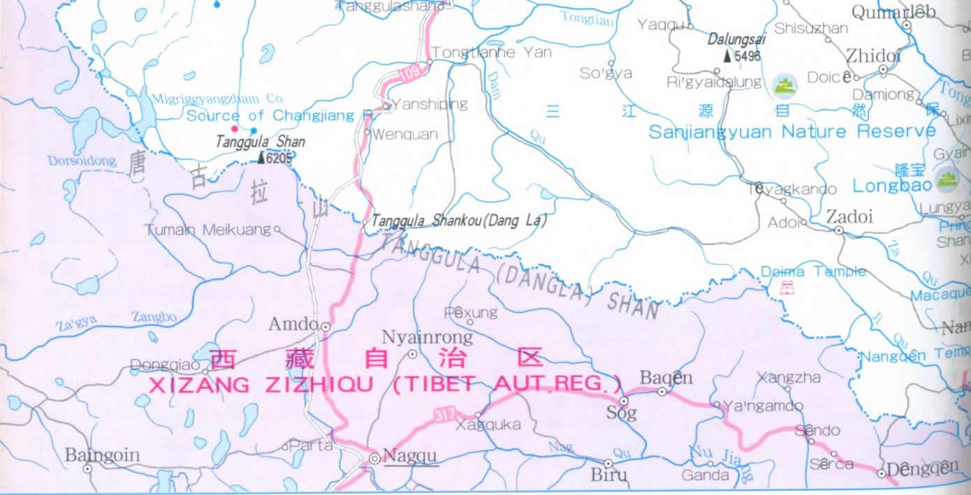 Map Of Qinghai Province China