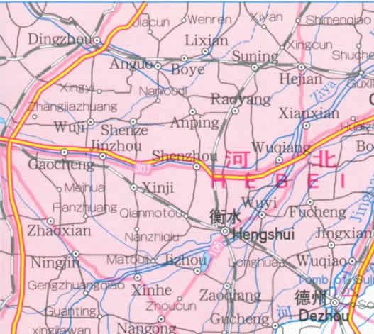 Travel Map of Shandong Province, China