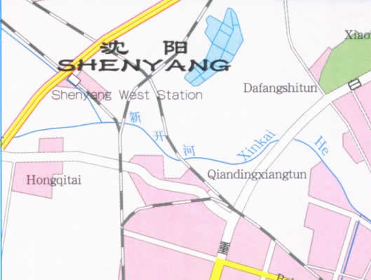 Travel Map of Shenyang City, China