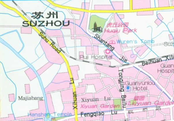 Map Of Suzhou City China - Suzhou map