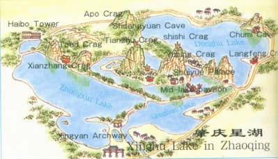 Xinghu Lake In Zhaoqing MapGuangdong Travel Guide - Zhaoqing map