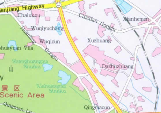 Map Of Zhongshan Mountain Nanjing China - Nanjing map