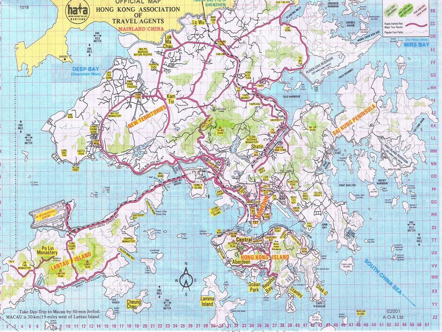 Hongkong Map - Hong kong map