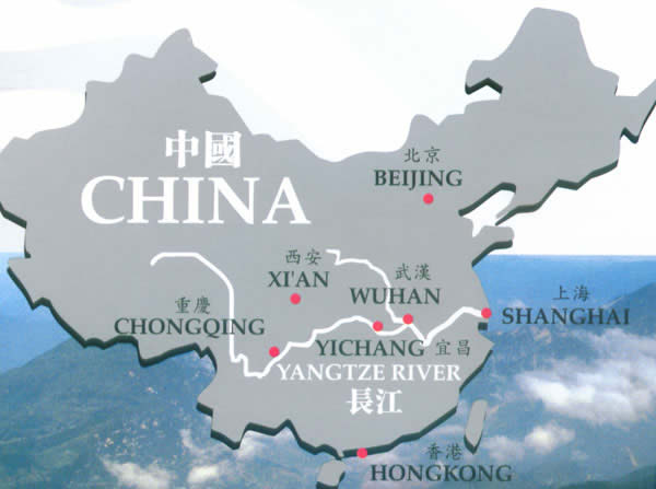 Where Is The Yangtze River Located On A Map map of the location of the ...