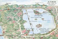 Map of Xihu Lake in Hangzhou