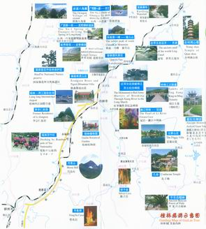 Guiding Map of guilin